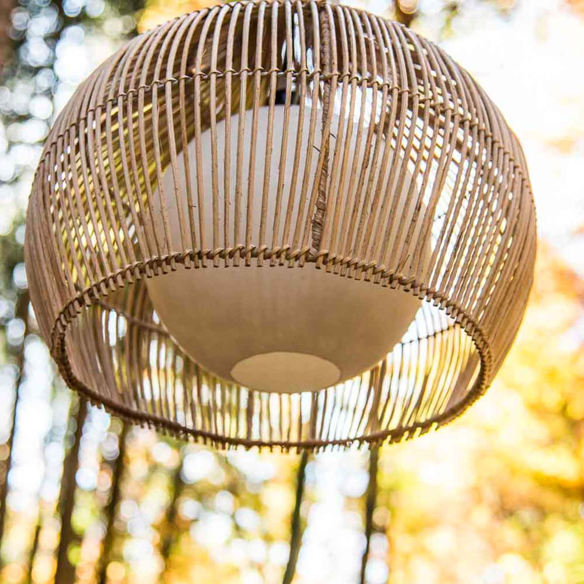 Suspension luminaire lampe avec abat jour osier 41 cm for Luminaire en osier