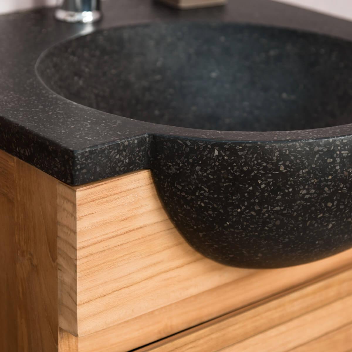beautiful meuble vasque salle de bain 50 cm nature ideas With vasque salle de bain 50 cm