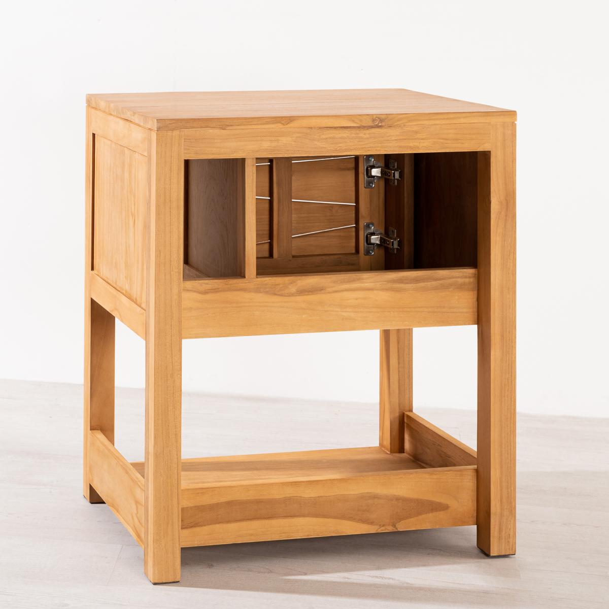 meuble de salle de bain en teck cosy 67cm. Black Bedroom Furniture Sets. Home Design Ideas