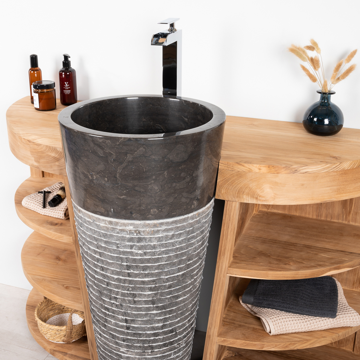 meuble sous vasque simple vasque en bois teck massif vasque en marbre florence. Black Bedroom Furniture Sets. Home Design Ideas
