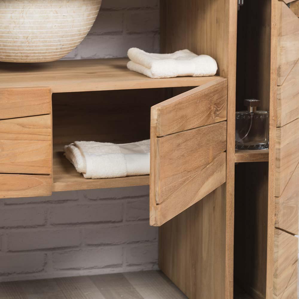 Meuble salle de bain 110 cm aqua meuble de salle de bain for Double vasque salle de bain 110 cm