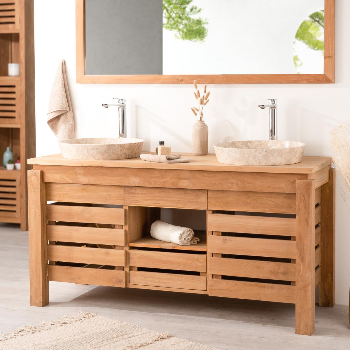 dimension meuble double vasque meuble vasque bois avec tiroirs longueur cm fairway with. Black Bedroom Furniture Sets. Home Design Ideas