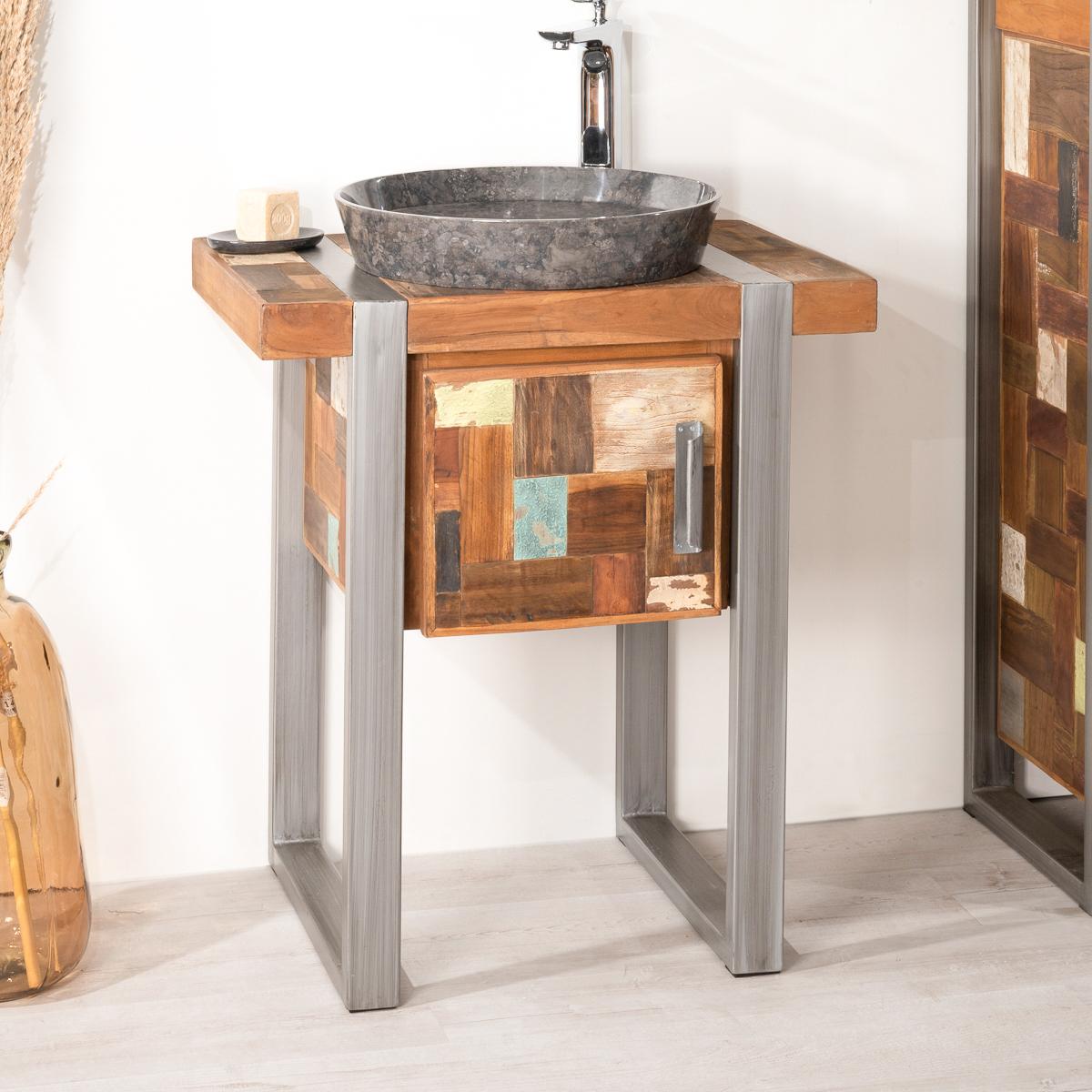 Meuble vasque salle de bain 70 cm affordable vasque for Meuble 70