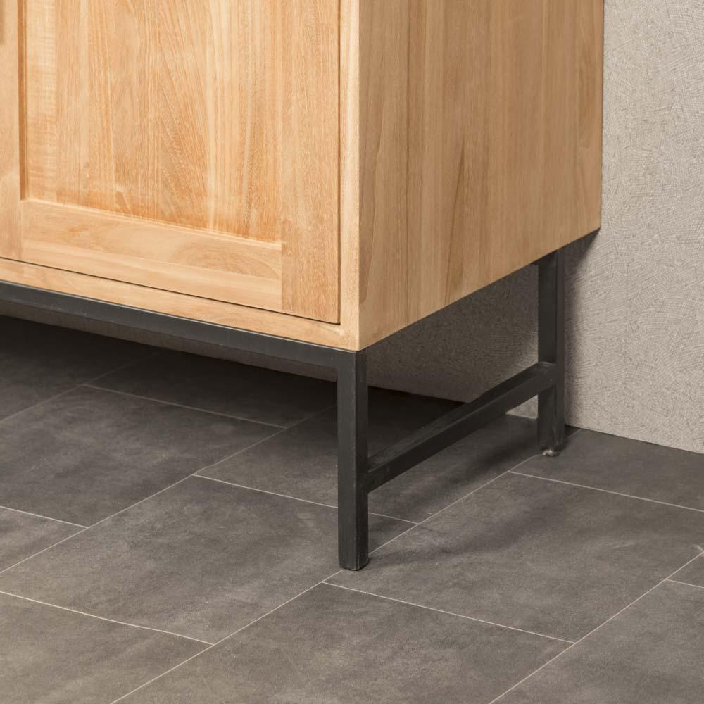 meuble salle de bain meuble double vasque teck pablo 130 cm. Black Bedroom Furniture Sets. Home Design Ideas