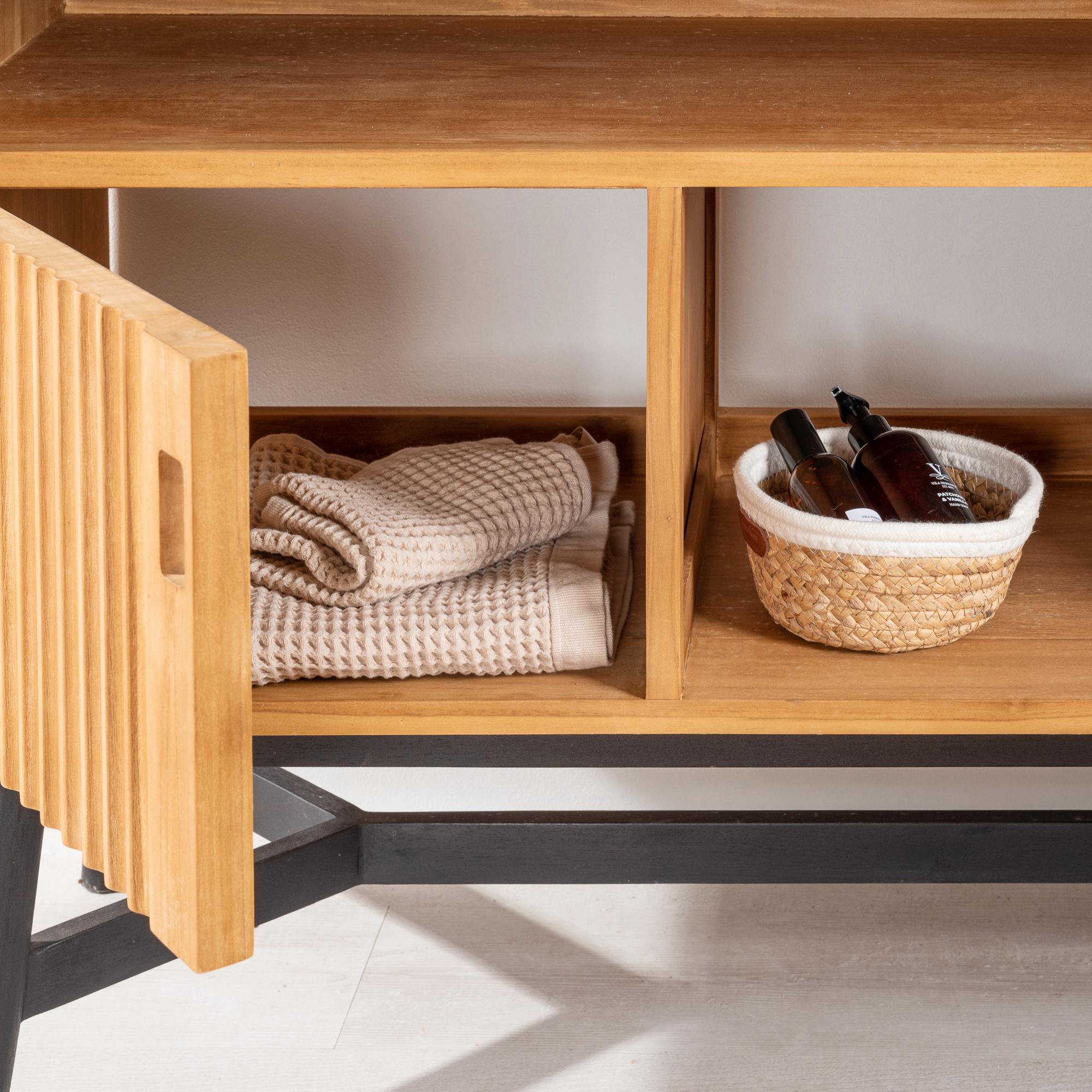 meuble salle de bain meuble double vasque teck mya 130 cm. Black Bedroom Furniture Sets. Home Design Ideas