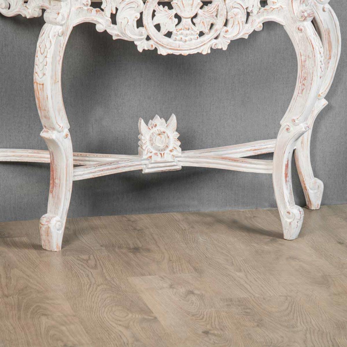 Salle De Bain Baroque Rose : Meuble sous vasque simple en bois teck massif