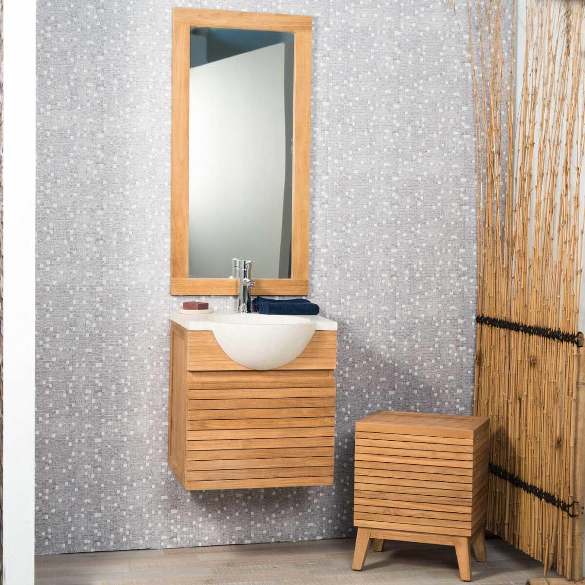 meuble salle de bain suspendu meuble sous vasque teck. Black Bedroom Furniture Sets. Home Design Ideas