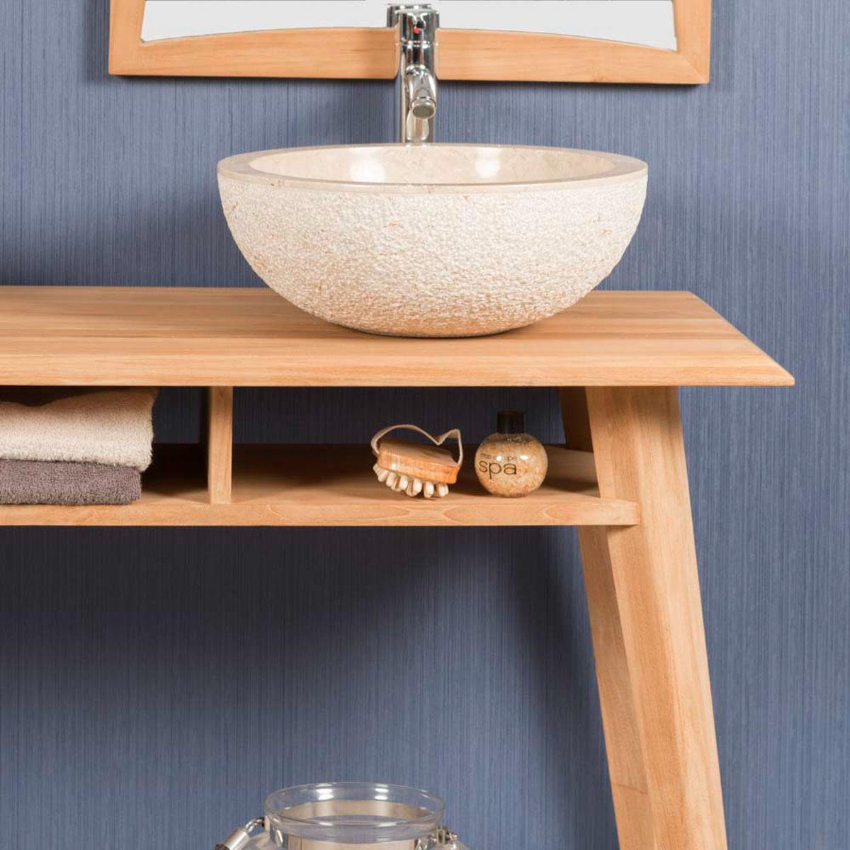 meuble salle de bain meuble sous vasque teck tango 140 cm. Black Bedroom Furniture Sets. Home Design Ideas