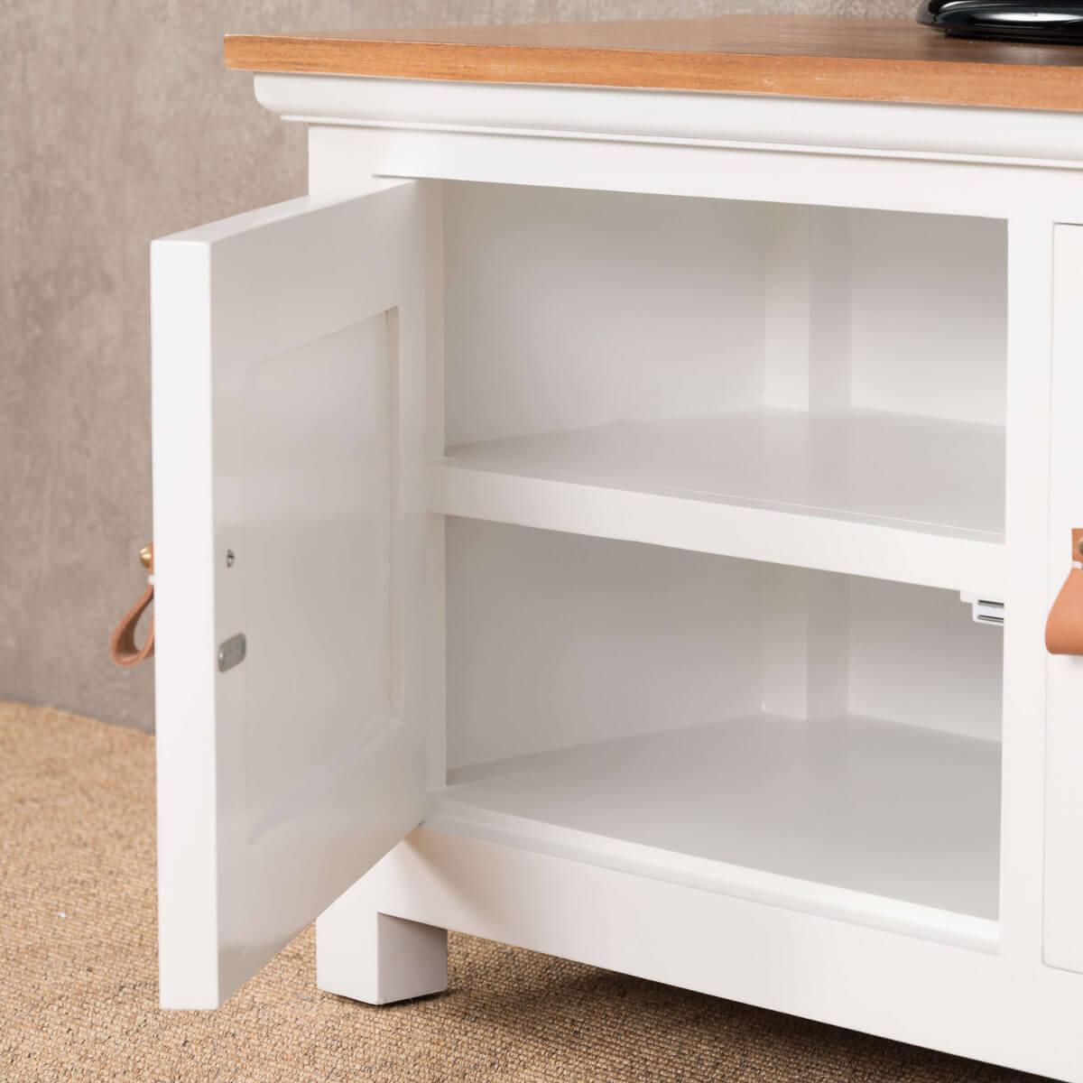 Meuble tv acajou meuble tv blanc et bois rectangle chic for Meuble japonais acajou