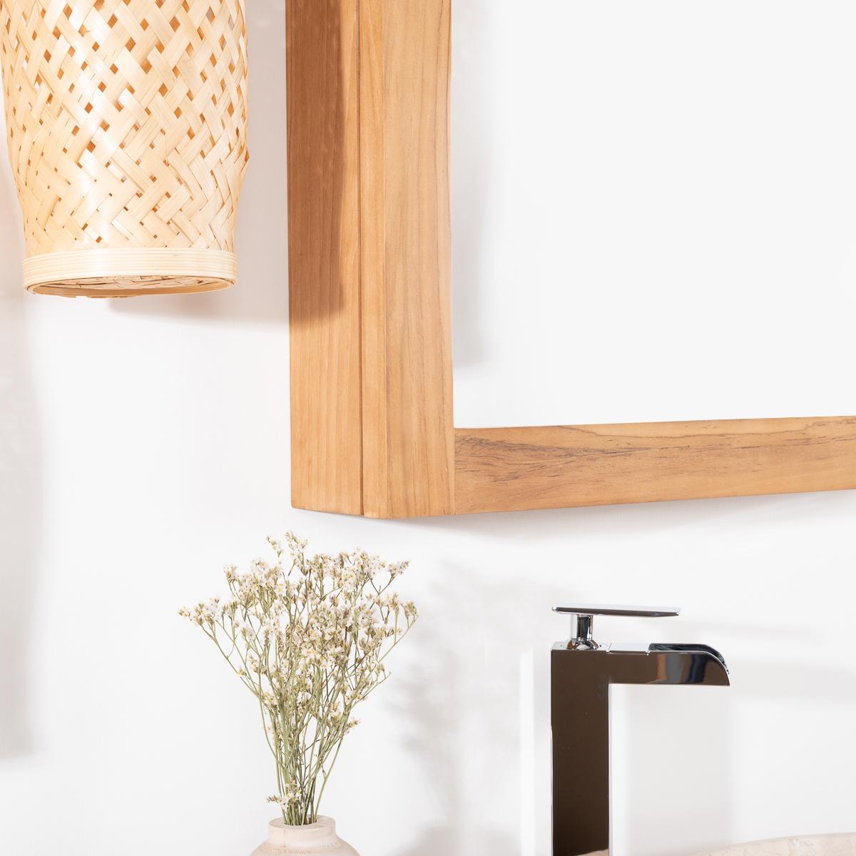 Best miroir teck salle de bain ideas for Armoire de toilette miroir