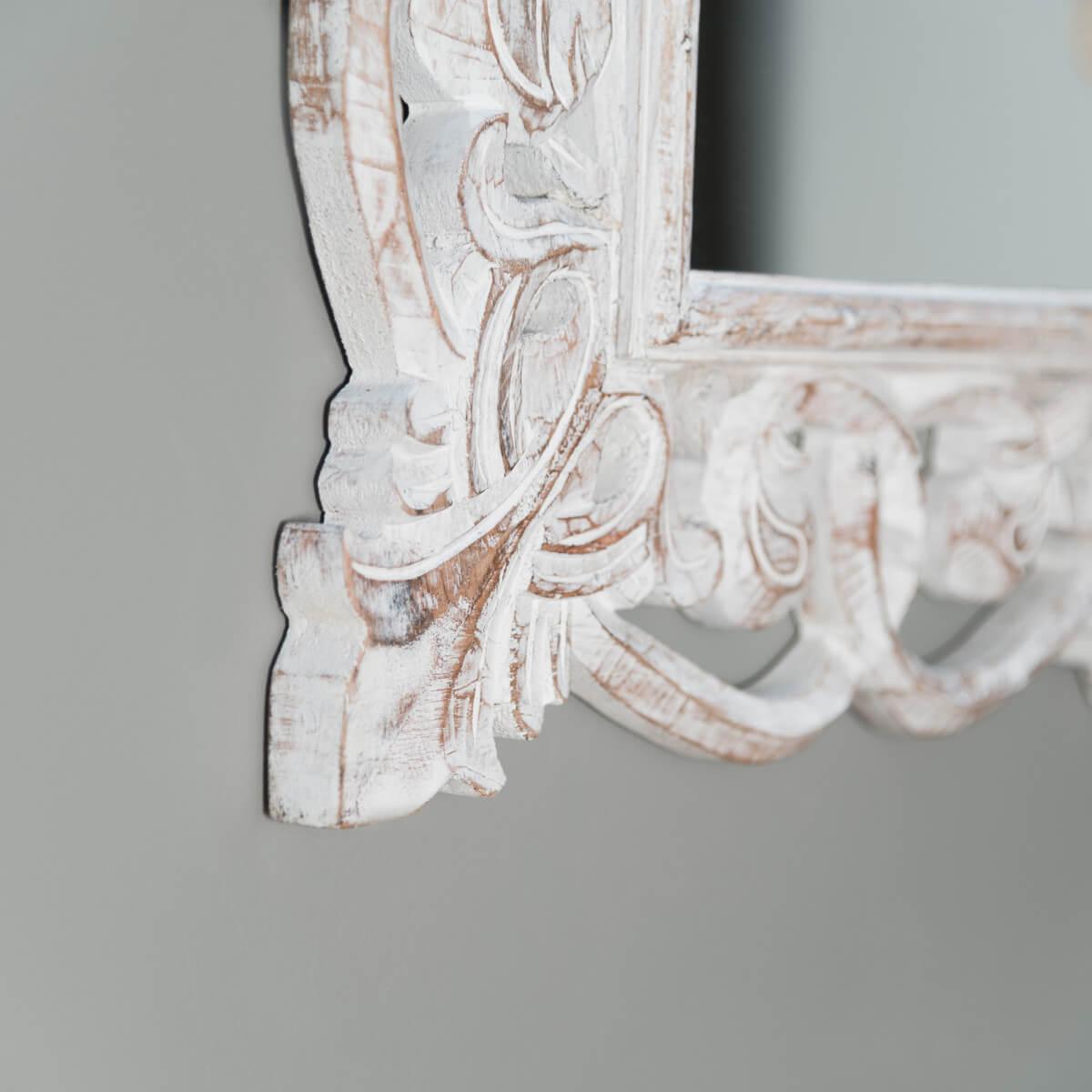 Miroir de d coration en bois massif cordoue for Miroir 70 x 100