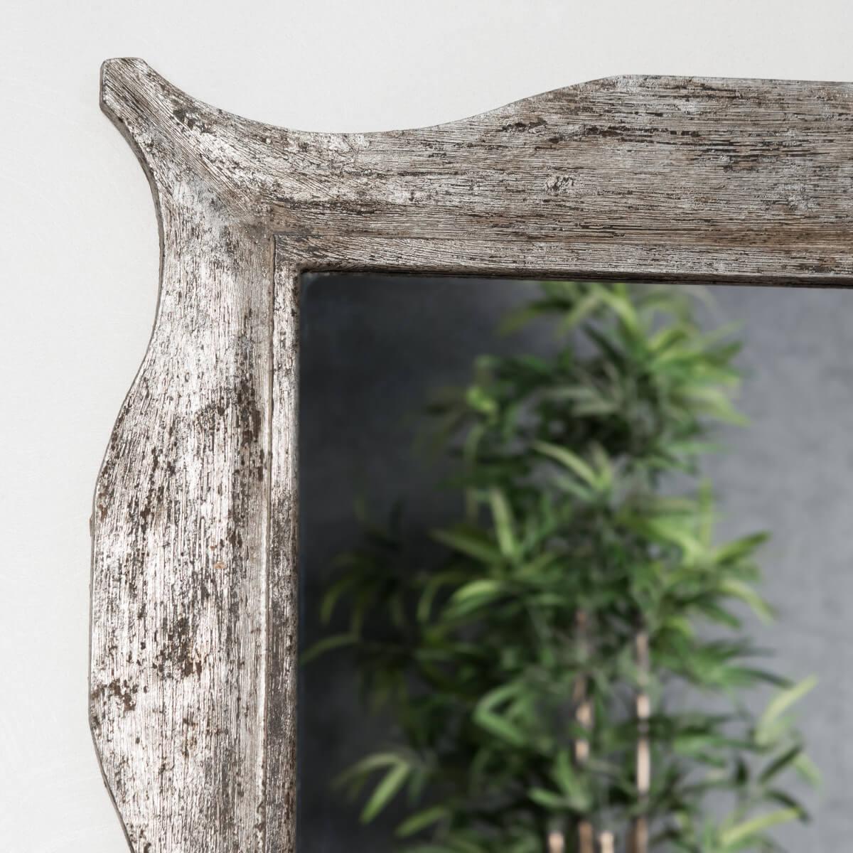 Miroir moderne en bois patin bronze 70 x 100cm wanda collection for Miroir moderne