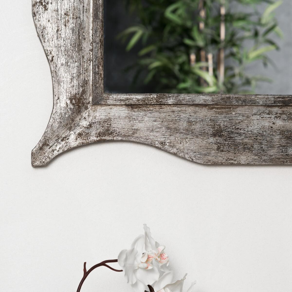 Miroir moderne en bois patin bronze 70 x 100cm ebay for Miroir xxl bois