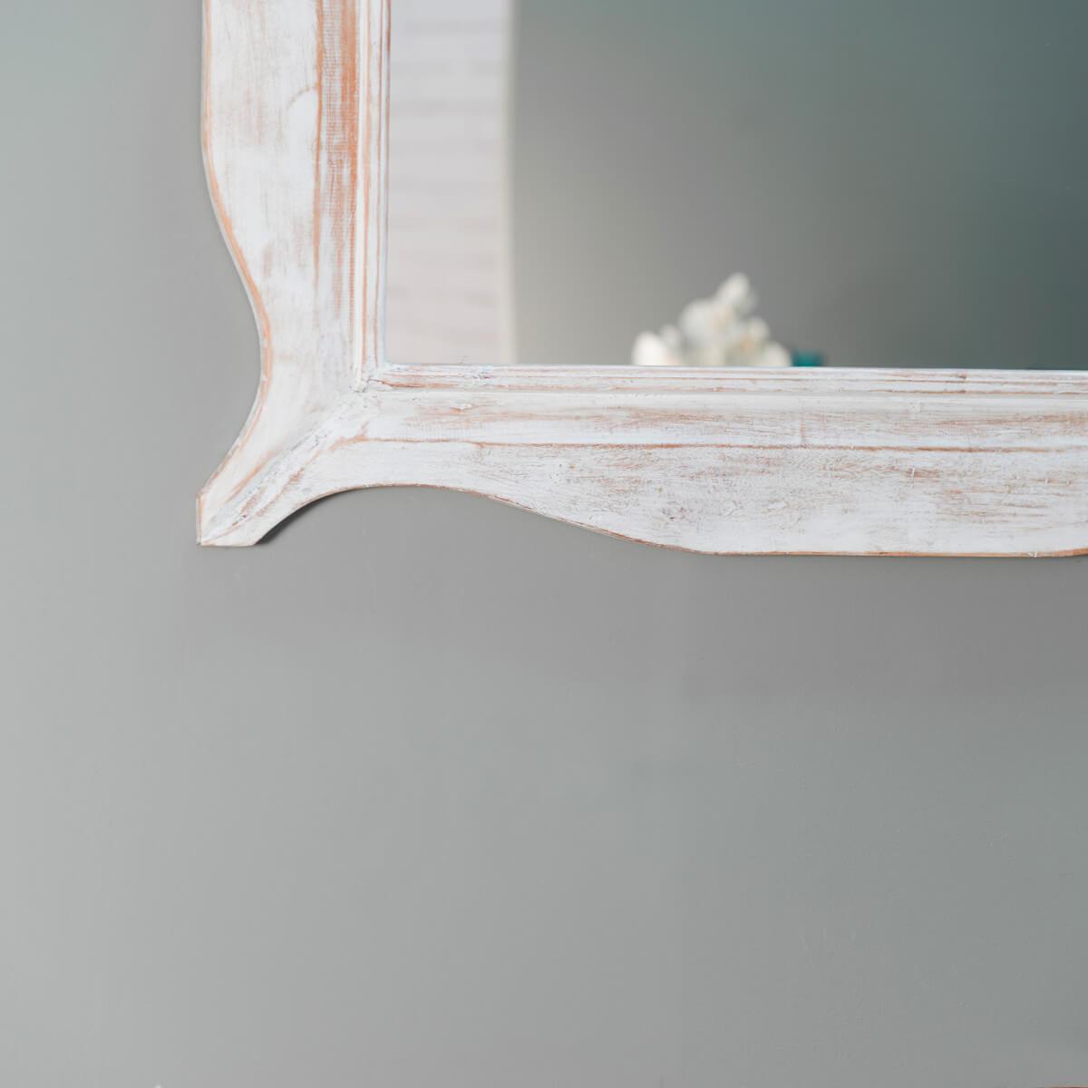 Miroir De D Coration En Bois Massif Moderne Rectangulaire Bois  # Effet Ceruse Blanc