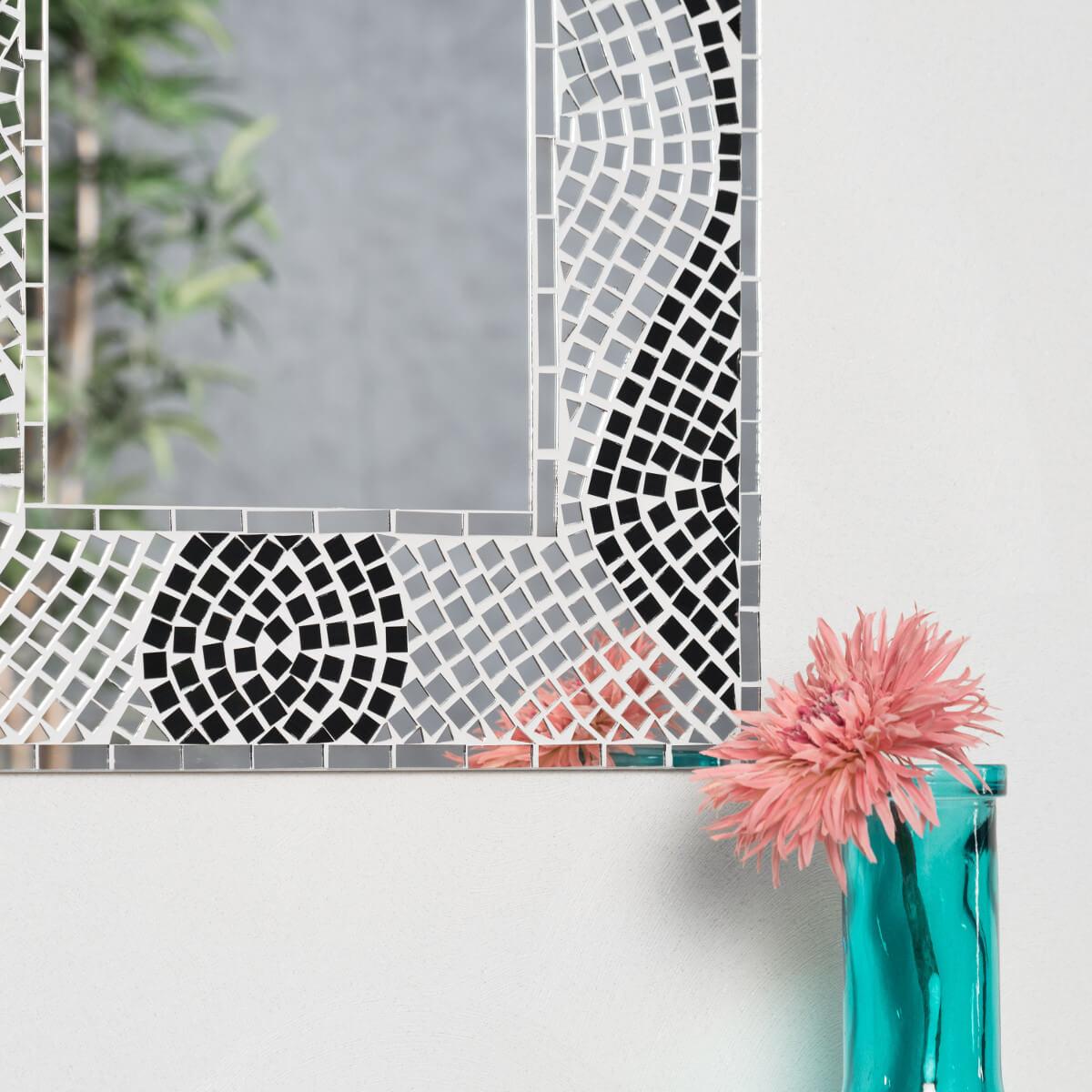 Miroir mosaique design 40cm x 50cm salon chambre - Miroir de salon ...