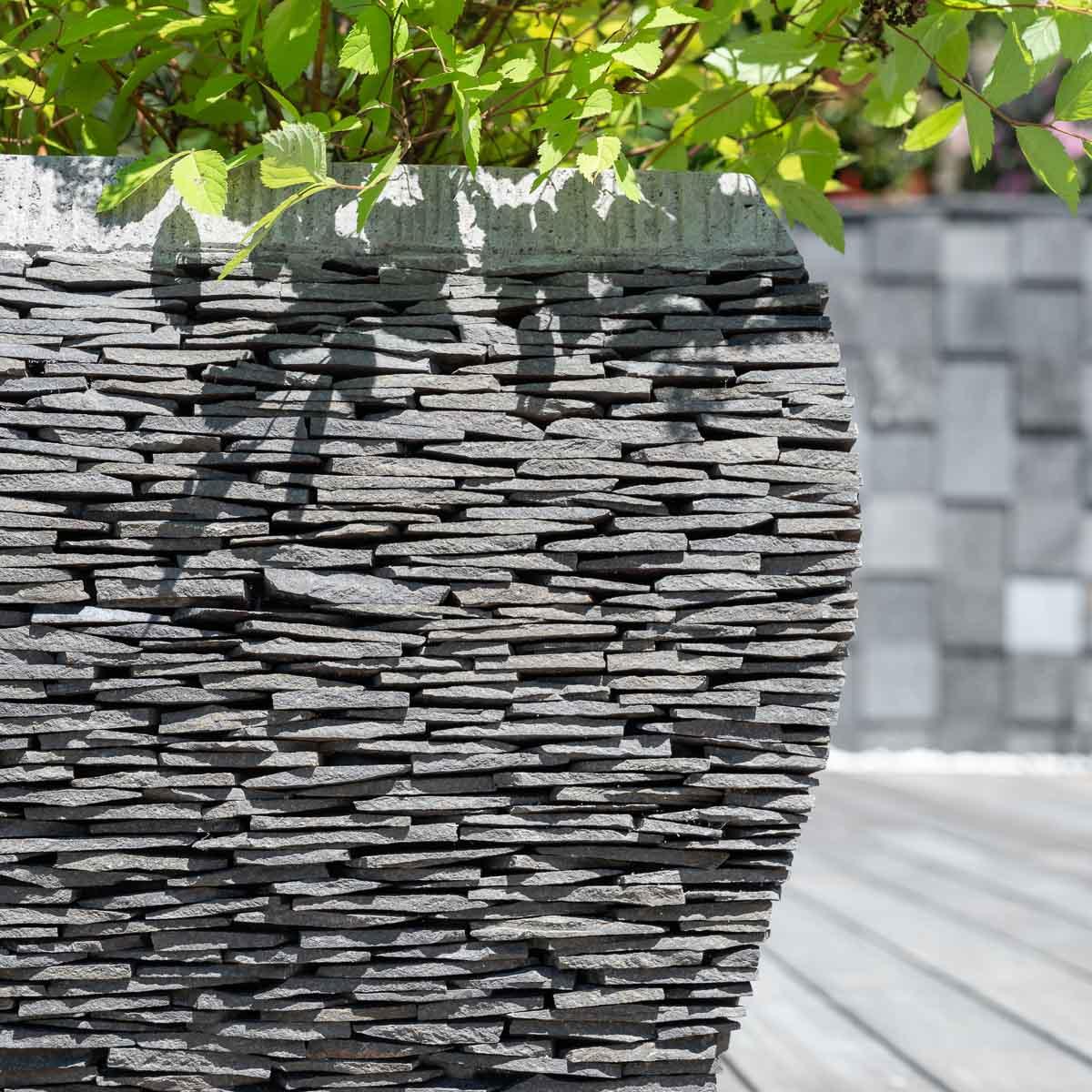 pot bac jardini re galb ardoise 50 cm jardin pierre naturelle. Black Bedroom Furniture Sets. Home Design Ideas