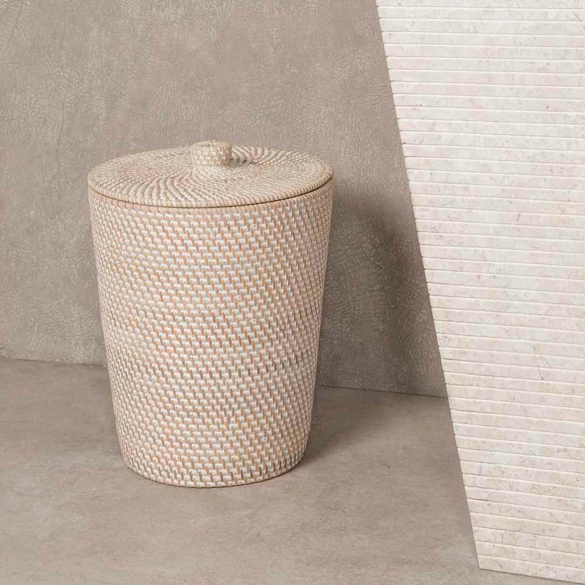 Belle Poubelle de salle de bain en fibre végétale NQ-16