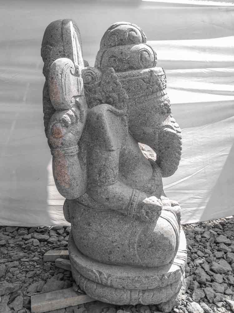 Statue De Jardin Ganesh Pierre 100 Cm Wanda Collection