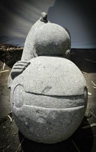 Statue de jardin ext rieur moine shaolin en pierre for Decoration jardin exterieur en pierre