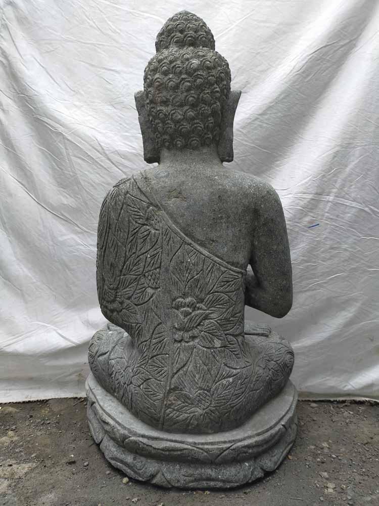 statue jardin zen statue en pierre bouddha jardin zen position priere 1 m