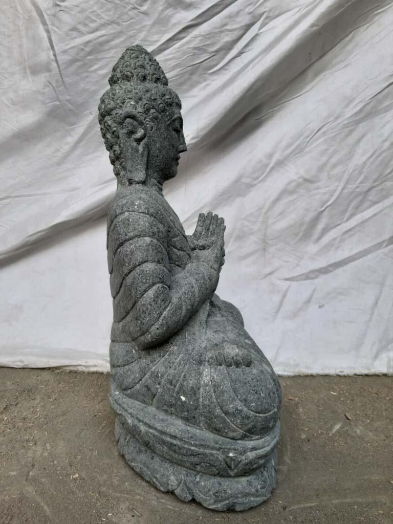 Statue jardin exterieur bouddha s r nit assis pierre - Statue bouddha exterieur pour jardin ...