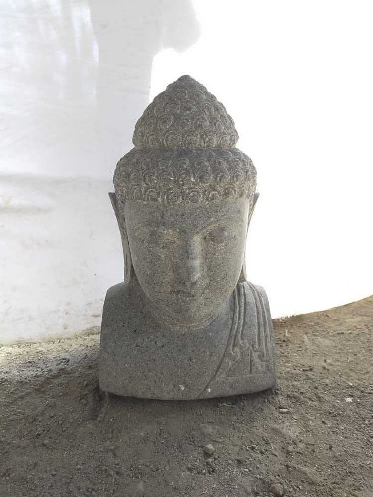 Statue Jardin Zen Exterieur Buste De Bouddha 50 Cm