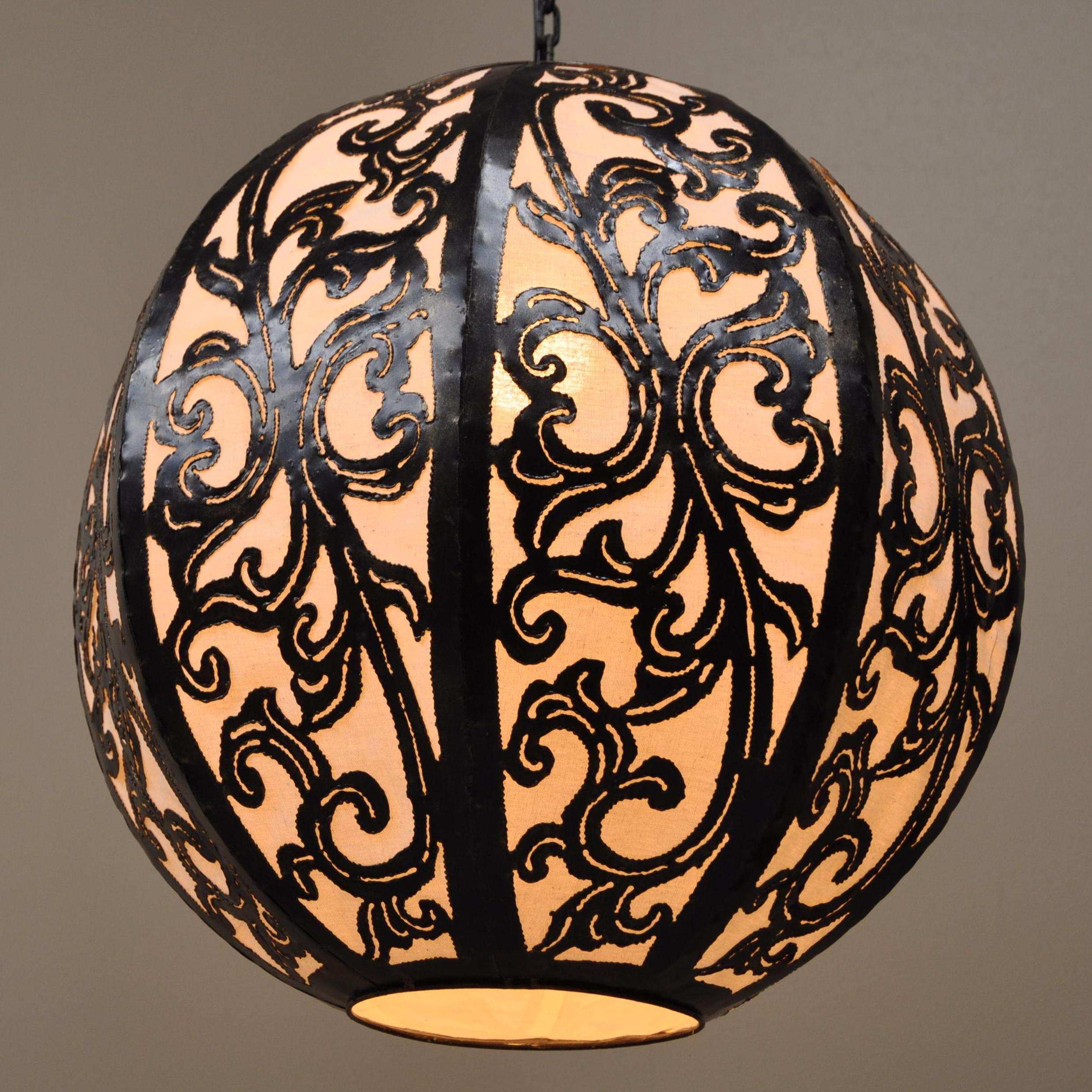 luminaire lustre suspendu acier rond blanc 40x45 cm. Black Bedroom Furniture Sets. Home Design Ideas