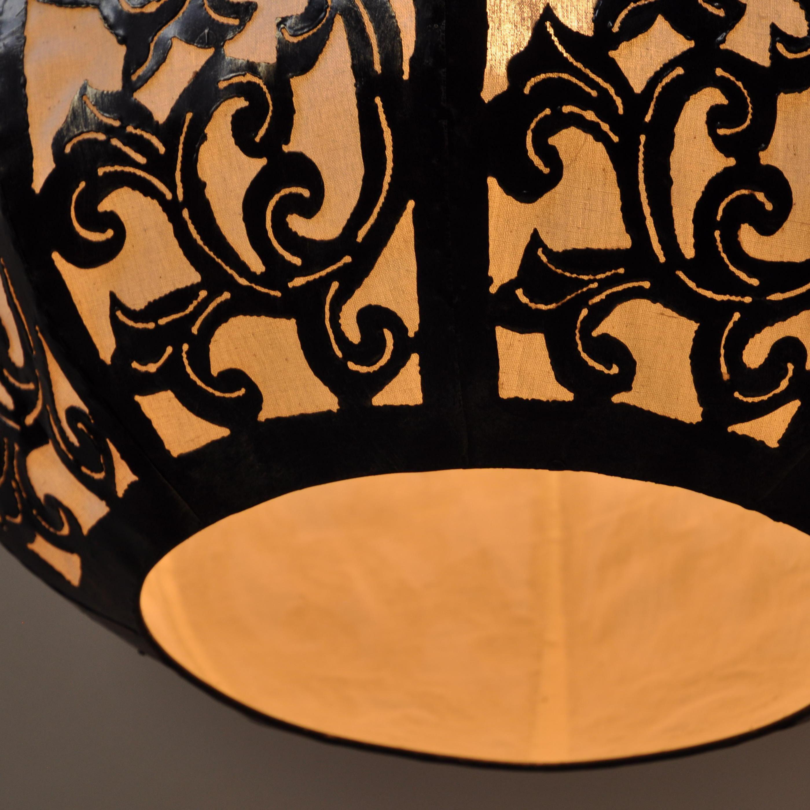 Luminaire lustre suspendu acier rond blanc D 40 cm H 45 cm 1570