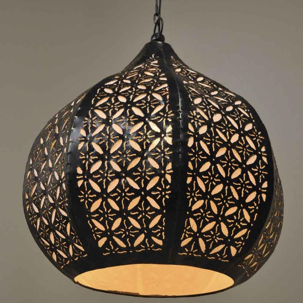 luminaire lustre suspendu acier rond blanc d 40 cm h 45 cm 1572. Black Bedroom Furniture Sets. Home Design Ideas