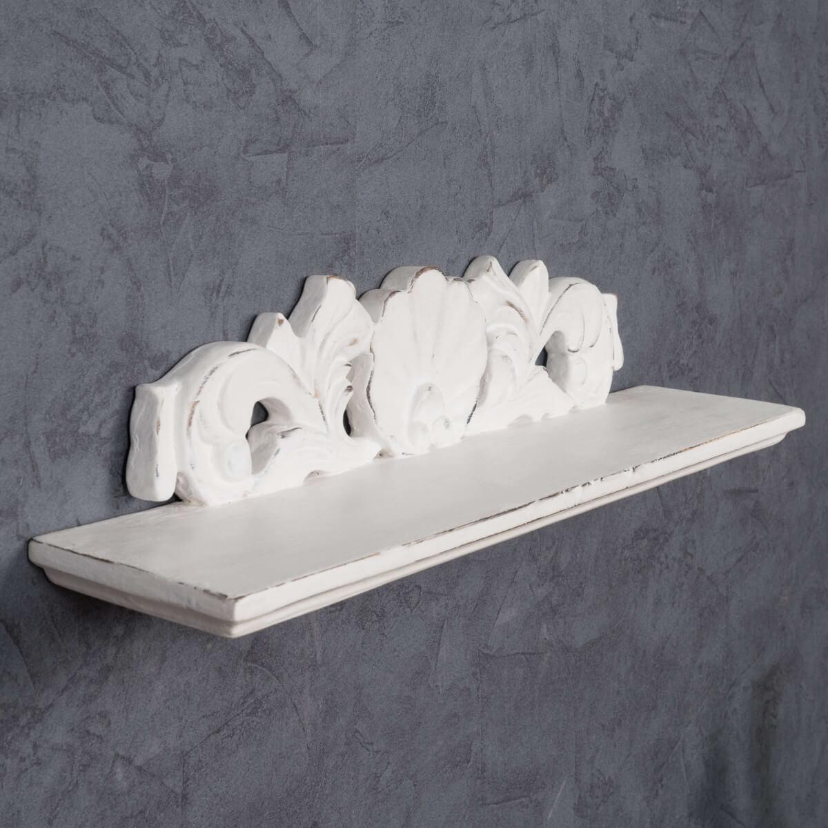 Tablette Salle De Bain 80 Cm tablette baroque blanc 50 cm