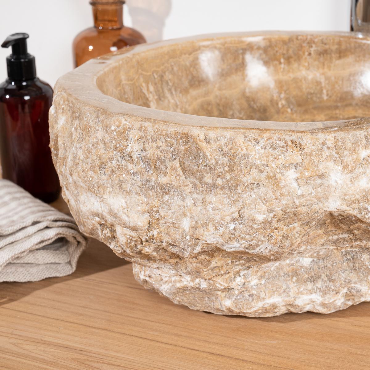 vasque poser en pierre d 39 onyx l 30 35 cm. Black Bedroom Furniture Sets. Home Design Ideas