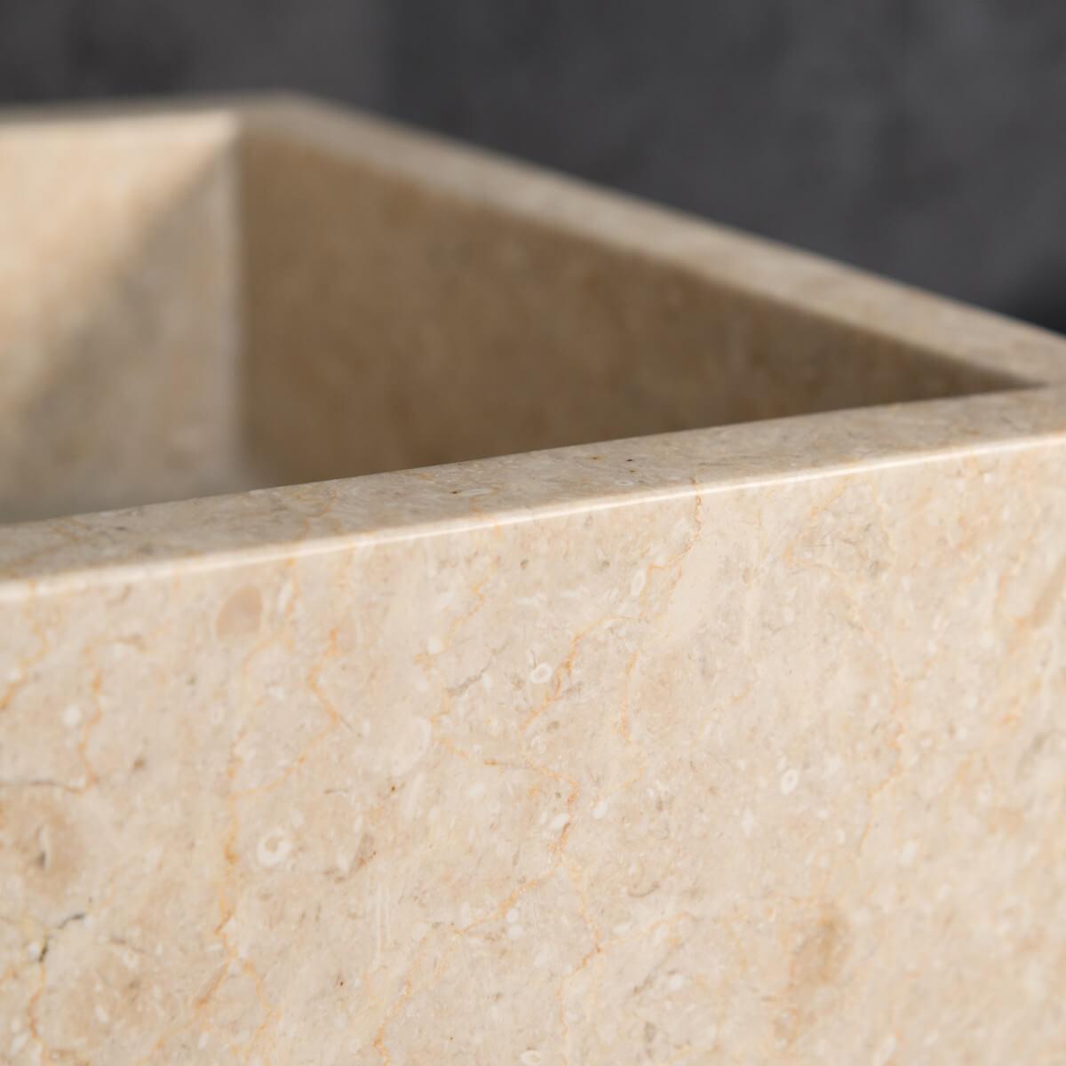 vasque à poser en marbre : milan, ronde, blanche, d : 30 cm