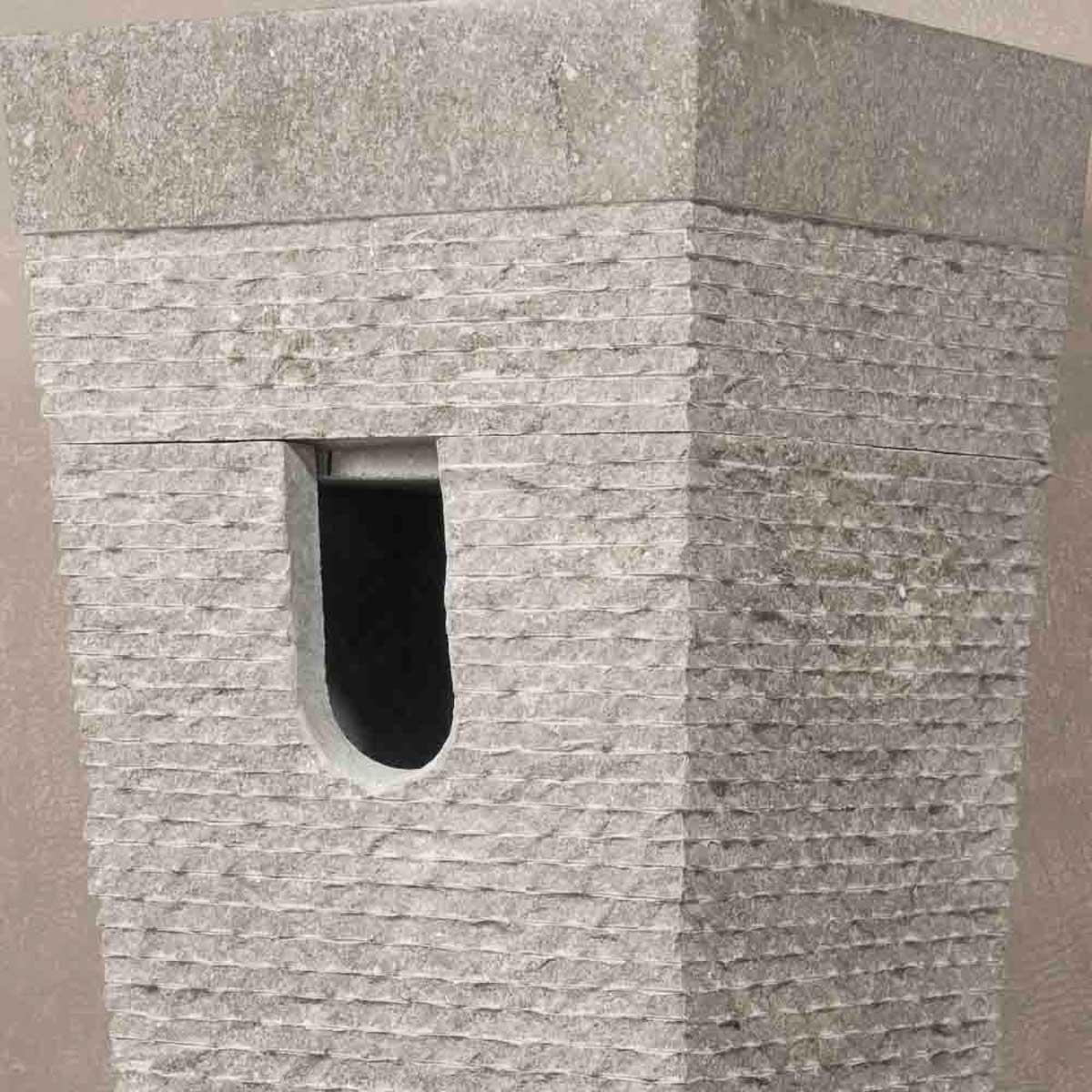 vasque sur pied en marbre carr 233 e grise d 40 cm