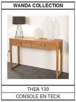 Console en teck Théa 130