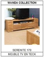 Meuble TV en teck Sérénité 170