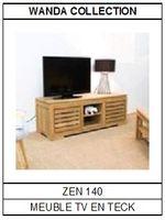 Meuble TV en teck Zen 140