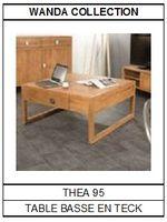 Table basse en teck carrée Théa 95