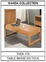 Table basse en teck rectangulaire Théa 110