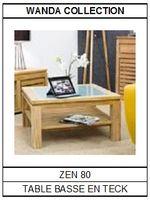 Table basse en teck Zen 80