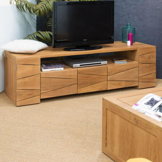 photo de meuble tv en teck meuble tv en teck massif. Black Bedroom Furniture Sets. Home Design Ideas