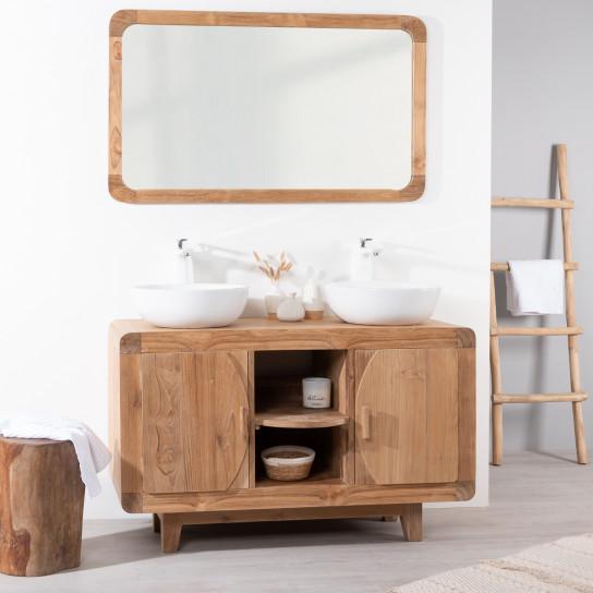 Mueble para cuarto de baño de teca retro 120 cm