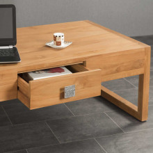 table basse en teck Thea 110 rectangulaire
